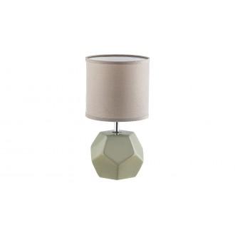 RABALUX 5509 | Galen-RA Rabalux stolna svjetiljka 26cm s prekidačem 1x E14 sivo, krom, bijelo
