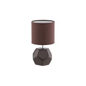 RABALUX 5510 | Galen-RA Rabalux stolna svjetiljka 26cm s prekidačem 1x E14 smeđe, krom, bijelo
