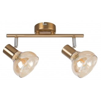 RABALUX 5547 | Holly-RA Rabalux spot svjetiljka elementi koji se mogu okretati 2x E14 antik zlato, jantar