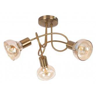 RABALUX 5548 | Holly-RA Rabalux stropne svjetiljke svjetiljka 3x E14 antik zlato, jantar