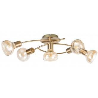 RABALUX 5552 | Holly-RA Rabalux stropne svjetiljke svjetiljka 5x E14 antik zlato, jantar