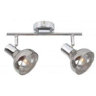 RABALUX 5556 | Holly-RA Rabalux spot svjetiljka elementi koji se mogu okretati 2x E14 krom, dim