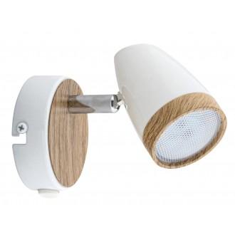 RABALUX 5564 | Karen Rabalux spot svjetiljka s prekidačem elementi koji se mogu okretati 1x LED 280lm 3000K bijelo, bukva