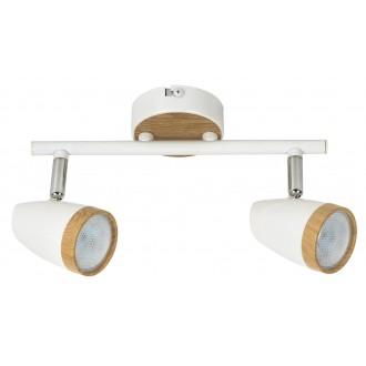 RABALUX 5565 | Karen Rabalux spot svjetiljka elementi koji se mogu okretati 2x LED 560lm 3000K bijelo, bukva