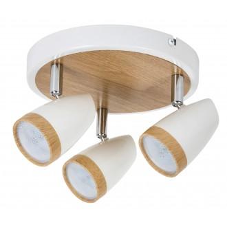 RABALUX 5566 | Karen Rabalux spot svjetiljka elementi koji se mogu okretati 3x LED 840lm 3000K bijelo, bukva