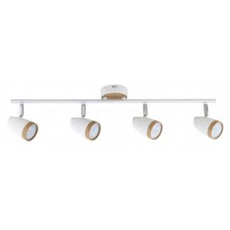 RABALUX 5567 | Karen Rabalux spot svjetiljka elementi koji se mogu okretati 4x LED 1120lm 3000K bijelo, bukva