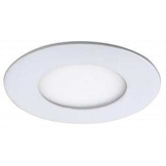 RABALUX 5568 | Lois Rabalux ugradbene svjetiljke LED panel okrugli Ø85mm 85x85mm 1x LED 170lm 4000K bijelo mat, bijelo