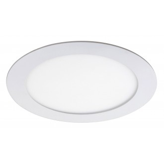 RABALUX 5570 | Lois Rabalux ugradbene svjetiljke LED panel okrugli Ø170mm 170x170mm 1x LED 800lm 4000K bijelo mat, bijelo