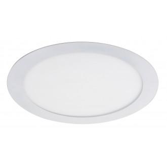 RABALUX 5571 | Lois Rabalux ugradbene svjetiljke LED panel okrugli Ø225mm 225x225mm 1x LED 1400lm 4000K bijelo mat, bijelo