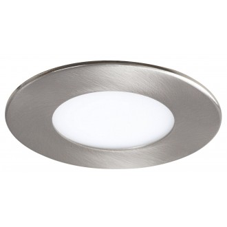 RABALUX 5572 | Lois Rabalux ugradbene svjetiljke LED panel okrugli Ø85mm 85x85mm 1x LED 170lm 3000K krom saten, bijelo