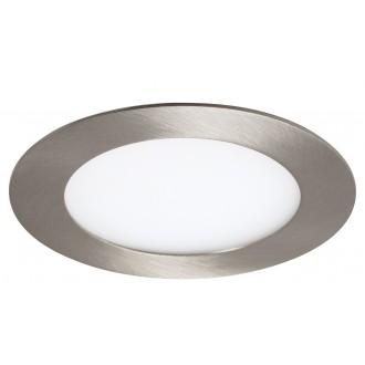 RABALUX 5573 | Lois Rabalux ugradbene svjetiljke LED panel okrugli Ø120mm 120x120mm 1x LED 350lm 3000K krom saten, bijelo