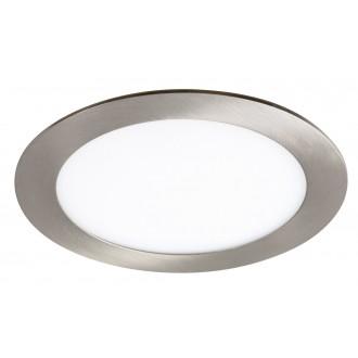 RABALUX 5574 | Lois Rabalux ugradbene svjetiljke LED panel okrugli Ø170mm 170x170mm 1x LED 800lm 3000K krom saten, bijelo