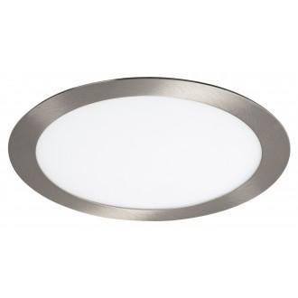 RABALUX 5575 | Lois Rabalux ugradbene svjetiljke LED panel okrugli Ø225mm 225x225mm 1x LED 1400lm 3000K krom saten, bijelo