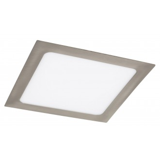 RABALUX 5583 | Lois Rabalux ugradbene svjetiljke LED panel četvrtast 220x220mm 1x LED 1400lm 3000K krom saten, bijelo