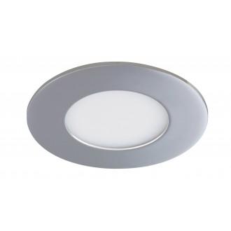 RABALUX 5584 | Lois Rabalux ugradbene svjetiljke LED panel okrugli Ø90mm 90x90mm 1x LED 170lm 4000K IP44 krom, bijelo