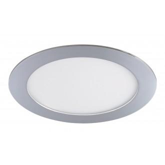 RABALUX 5585 | Lois Rabalux ugradbene svjetiljke LED panel okrugli Ø170mm 170x170mm 1x LED 800lm 4000K IP44 krom, bijelo