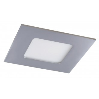 RABALUX 5586 | Lois Rabalux ugradbene svjetiljke LED panel četvrtast 90x90mm 1x LED 170lm 4000K IP44 krom, bijelo