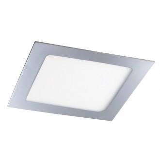 RABALUX 5587 | Lois Rabalux ugradbene svjetiljke LED panel četvrtast 170x170mm 1x LED 800lm 4000K IP44 krom, bijelo