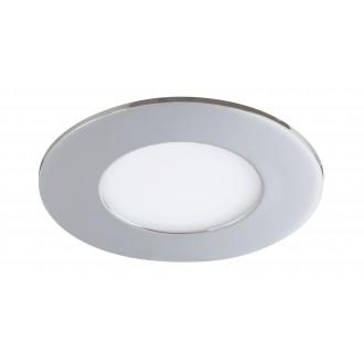 RABALUX 5588 | Lois Rabalux ugradbene svjetiljke LED panel okrugli Ø90mm 90x90mm 1x LED 170lm 3000K IP44 krom, bijelo