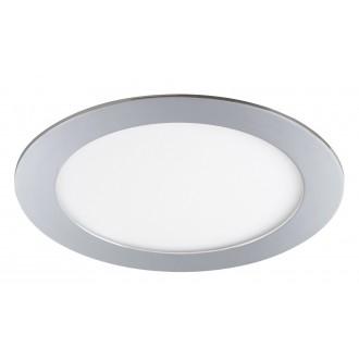 RABALUX 5589 | Lois Rabalux ugradbene svjetiljke LED panel okrugli Ø170mm 170x170mm 1x LED 800lm 3000K IP44 krom, bijelo