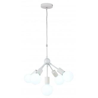RABALUX 5598 | Malik Rabalux visilice svjetiljka 5x E27 bijelo