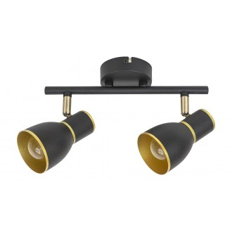RABALUX 5606 | Mackenzie Rabalux spot svjetiljka elementi koji se mogu okretati 2x E14 crno, zlatno