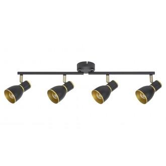RABALUX 5608 | Mackenzie Rabalux spot svjetiljka elementi koji se mogu okretati 4x E14 crno, zlatno