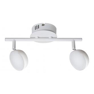 RABALUX 5623 | Hedwig Rabalux spot svjetiljka daljinski upravljač jačina svjetlosti se može podešavati, sa podešavanjem temperature boje, elementi koji se mogu okretati 2x LED 700lm 2700 <-> 5000K bijelo mat