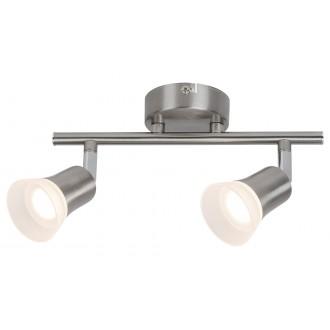 RABALUX 5627 | Riley-RA Rabalux spot svjetiljka elementi koji se mogu okretati 2x LED 700lm 3000K krom saten, opal