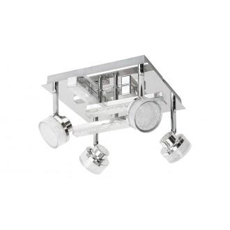 RABALUX 5638 | Padma Rabalux spot svjetiljka s impulsnim prekidačem elementi koji se mogu okretati 4x LED 1600lm + 1x LED 640lm 3000K krom, kristal