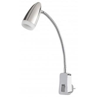 RABALUX 5658 | Alma-RA Rabalux utična svjetiljka svjetiljka s prekidačem fleksibilna 1x LED 350lm 3000K krom, bijelo