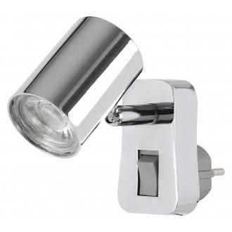 RABALUX 5659 | Cara-RA Rabalux utična svjetiljka svjetiljka s prekidačem elementi koji se mogu okretati 1x LED 350lm 3000K krom