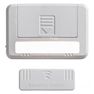 RABALUX 5675 | Magnus-RA Rabalux osvjetljenje namještaja svjetiljka s prekidačem dvodijelni set, magnet, baterijska/akumulatorska 1x LED 35lm 3000K bijelo