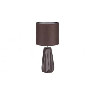 RABALUX 5704 | Amiel Rabalux stolna svjetiljka 43cm s prekidačem 1x E27 smeđe, krom