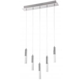 RABALUX 5764 | Rheia Rabalux visilice svjetiljka 5x LED 2000lm 3000K krom, prozirno