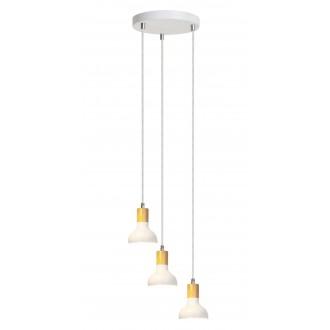 RABALUX 5949 | Holly-RA Rabalux visilice svjetiljka 3x E14 bijelo, bukva