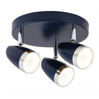 RABALUX 5952 | Karen Rabalux spot svjetiljka elementi koji se mogu okretati 3x LED 840lm 3000K plavo, krom