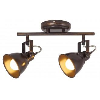 RABALUX 5963 | Vivienne Rabalux spot svjetiljka elementi koji se mogu okretati 2x E14 braon antik