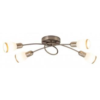 RABALUX 5973 | Elite Rabalux spot svjetiljka 4x E14 bronca, bijelo