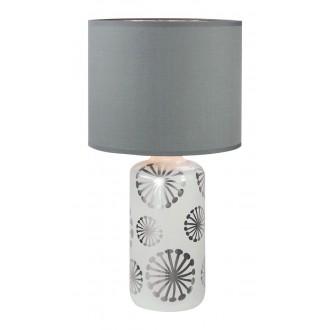 RABALUX 6029 | Ginger Rabalux stolna svjetiljka 49cm sa prekidačem na kablu 1x E27 bijelo, srebrno, sivo
