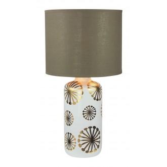 RABALUX 6030 | Ginger Rabalux stolna svjetiljka 49cm sa prekidačem na kablu 1x E27 bijelo, zlatno, smeđe