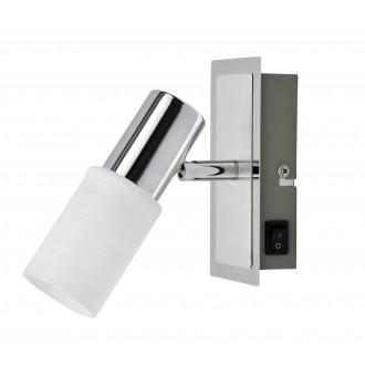 RABALUX 6096 | Logan Rabalux spot svjetiljka s prekidačem izvori svjetlosti koji se mogu okretati 1x E14 krom, bijelo