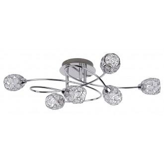 RABALUX 6110 | Elle Rabalux stropne svjetiljke svjetiljka 6x G9 krom, prozirno