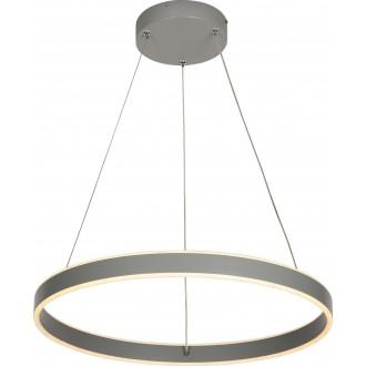 RABALUX 6299 | Othello Rabalux visilice svjetiljka okrugli daljinski upravljač jačina svjetlosti se može podešavati, sa podešavanjem temperature boje 1x LED 1800lm 3000 <-> 6500K sivo, opal