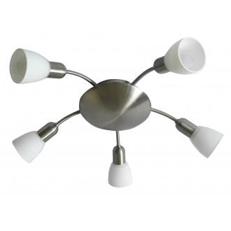 RABALUX 6305 | Soma2 Rabalux spot svjetiljka 5x E14 krom saten, bijelo