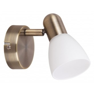 RABALUX 6306 | Soma2 Rabalux spot svjetiljka elementi koji se mogu okretati 1x E14 bronca, bijelo