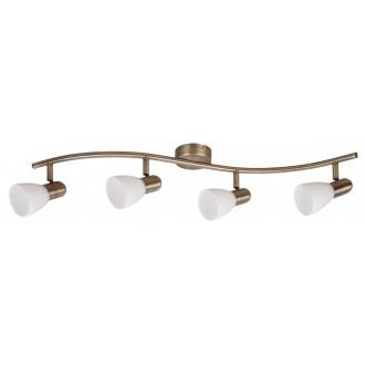 RABALUX 6309   Soma2 Rabalux spot svjetiljka elementi koji se mogu okretati 4x E14 bronca, bijelo