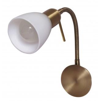 RABALUX 6320 | Soma2 Rabalux spot svjetiljka sa prekidačem na kablu sa kablom i vilastim utikačem, fleksibilna 1x E14 bronca, bijelo
