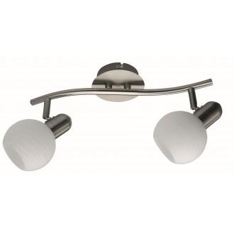 RABALUX 6342 | Aurel Rabalux spot svjetiljka elementi koji se mogu okretati 2x E14 kromni mat, bijelo