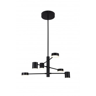 RABALUX 6355 | Solomon Rabalux visilice svjetiljka 1x LED 2400lm 4000K crno mat, bijelo